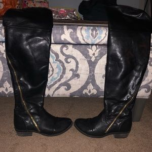 MK over the knee leather boots